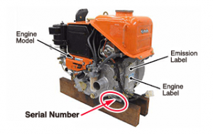 how to find Kubota serial number