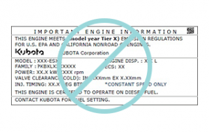 how to locate kubota serial number