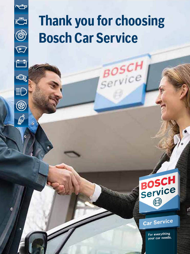 Thank you for chosing Bosch Car Service